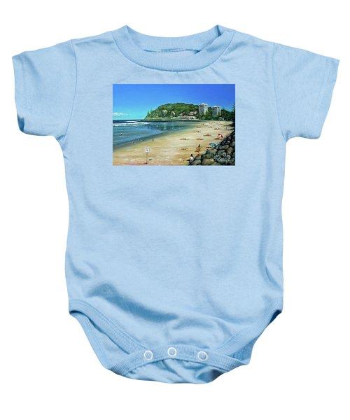 Burleigh Beach 100910 Baby Onesie