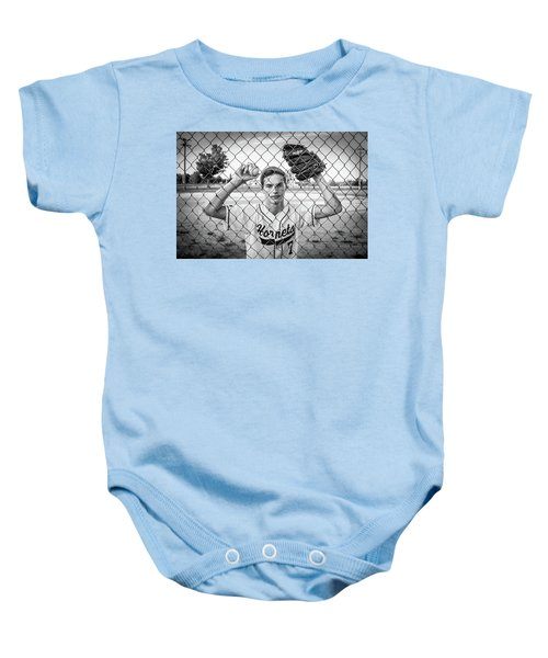 Baby Onesie featuring the photograph Caged Competitor by Bill Pevlor