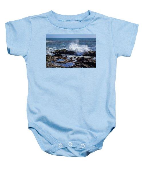 Wave Crashing On California Coast Baby Onesie