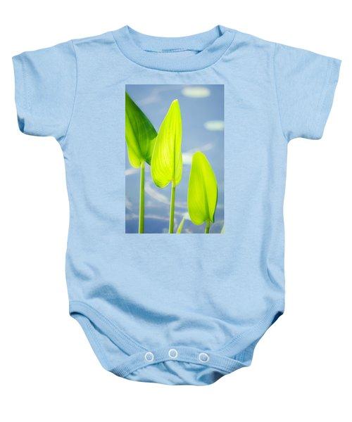 Calm Greens Baby Onesie