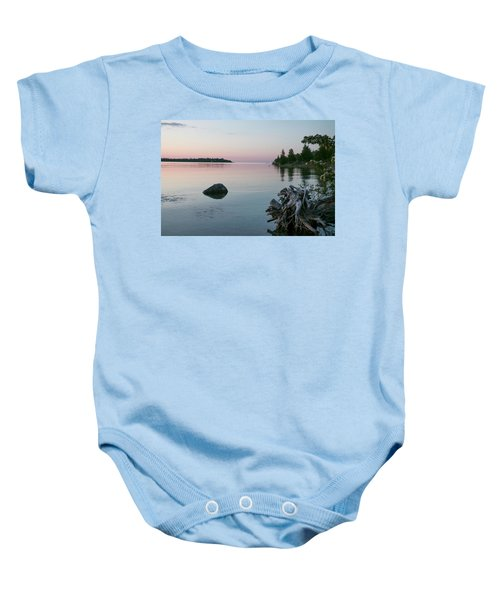 Calm Water At Lake Huron Crystal Point Baby Onesie
