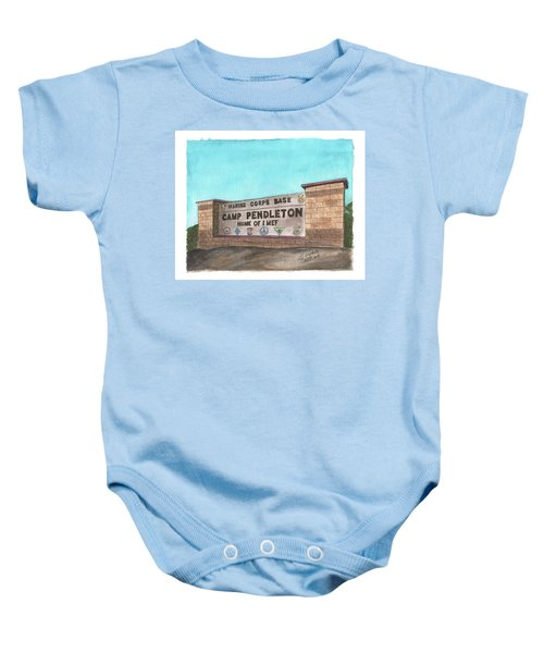 Camp Pendleton Welcome Baby Onesie