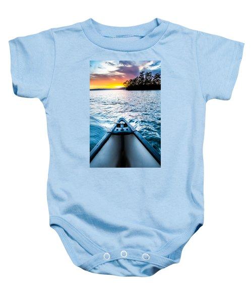 Canoeing In Paradise Baby Onesie