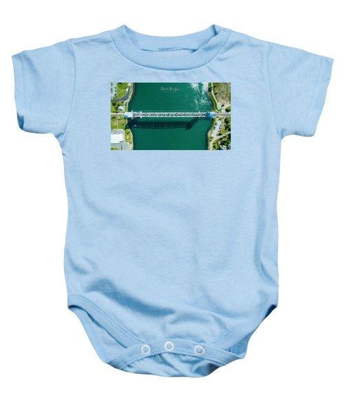 Cape Cod Canal Railroad Bridge Baby Onesie