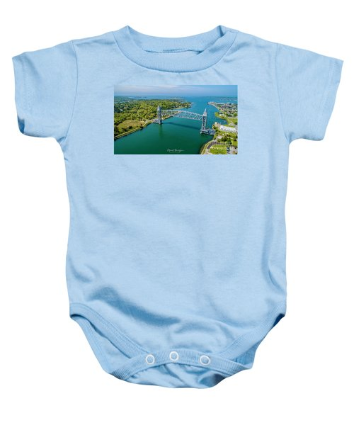Cape Cod Canal Railroad Baby Onesie
