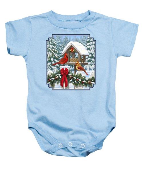 Cardinals Christmas Feast Baby Onesie