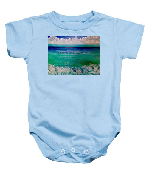 Caribbean Blue Words That Float On The Water  Baby Onesie