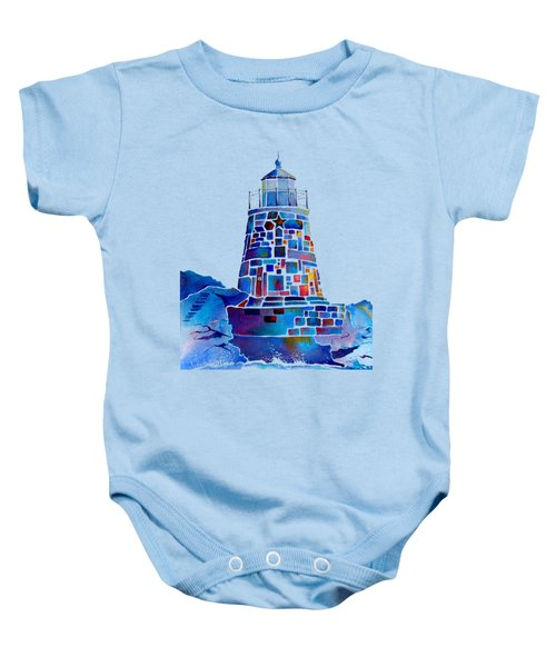 Castle Hill Newport Lighthouse Baby Onesie by Jo Lynch