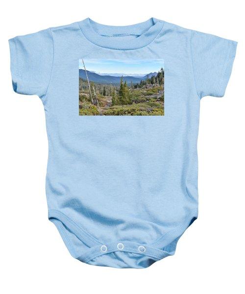 Castle Lake Trail Baby Onesie
