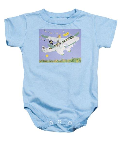 Cat Air Show Baby Onesie by Pat Scott