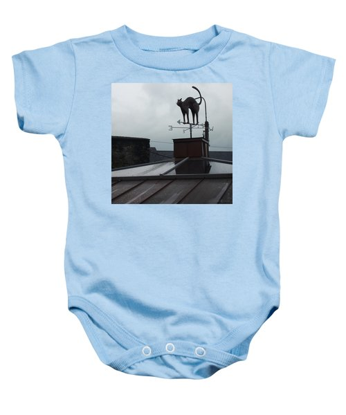 Cat On A Cool Tin Roof Baby Onesie