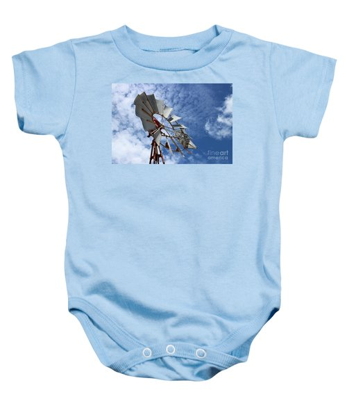 Baby Onesie featuring the photograph Catching The Breeze by Stephen Mitchell