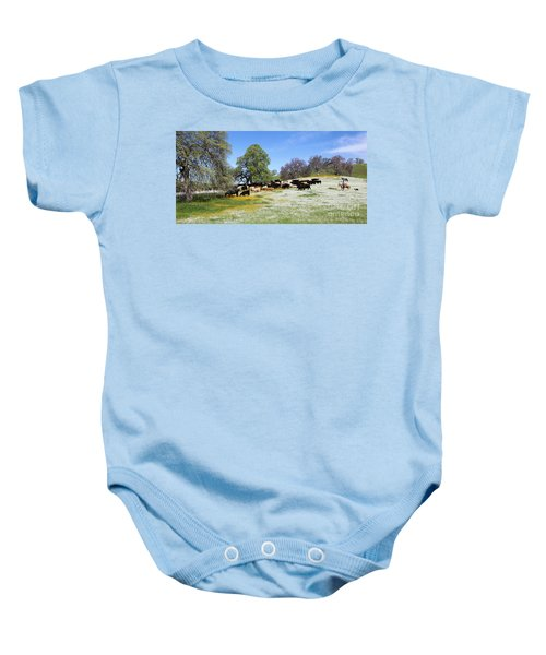 Cattle N Flowers Baby Onesie