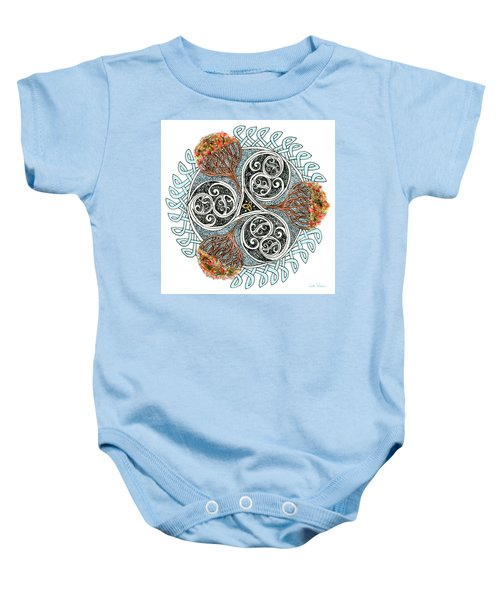 Celtic Knot With Autumn Trees Baby Onesie