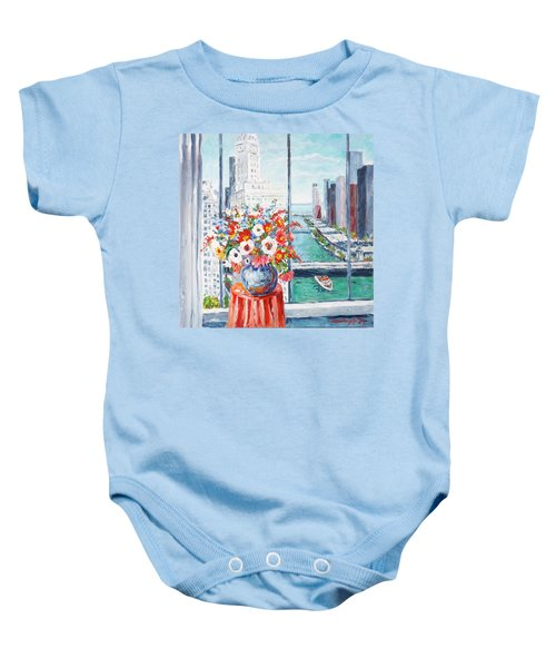 Chicago River Baby Onesie