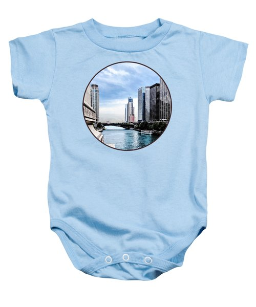 Chicago - View From Michigan Avenue Bridge Baby Onesie