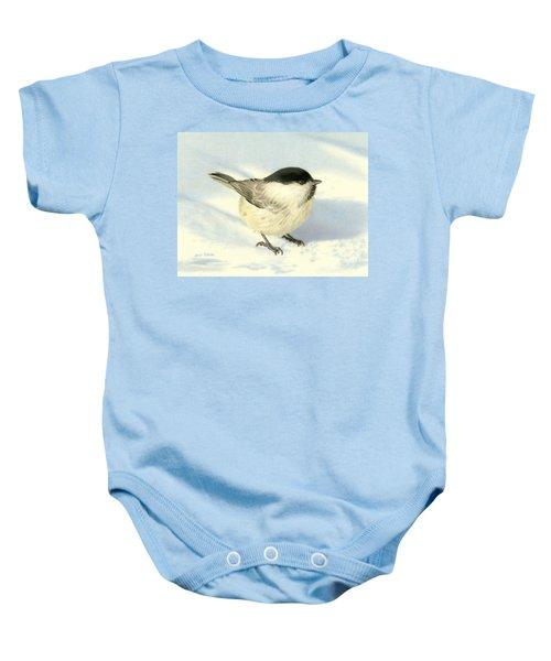 Chilly Chickadee Baby Onesie by Sarah Batalka