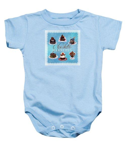 Chocolate Desserts Baby Onesie