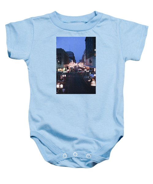 Christmas On The Mall Baby Onesie