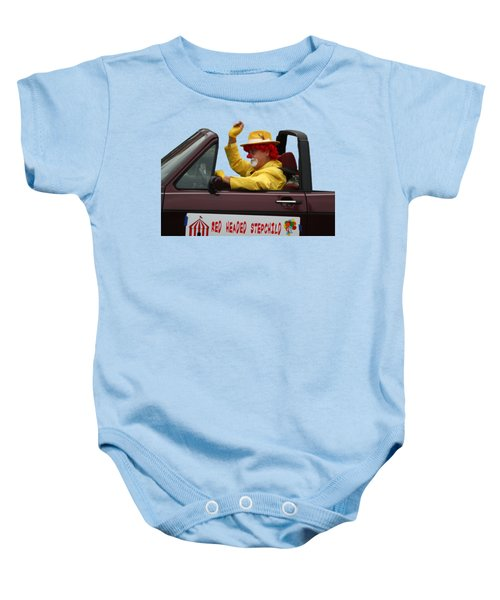 Christmas Parade Clown In Car Baby Onesie