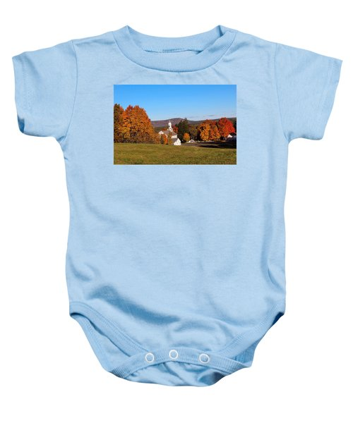 Church And Mountain Baby Onesie