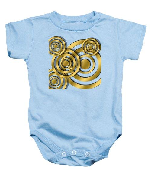 Circles - Transparent Baby Onesie