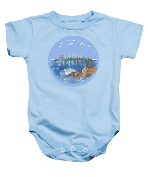 Cleveland Skyline Plate Baby Onesie