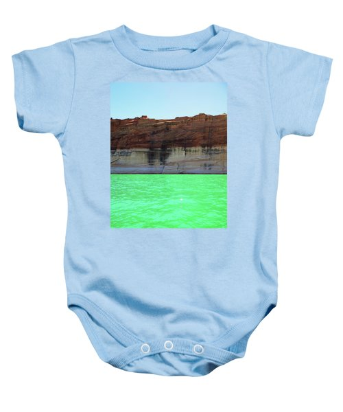 Cliff At Lake Powell Baby Onesie