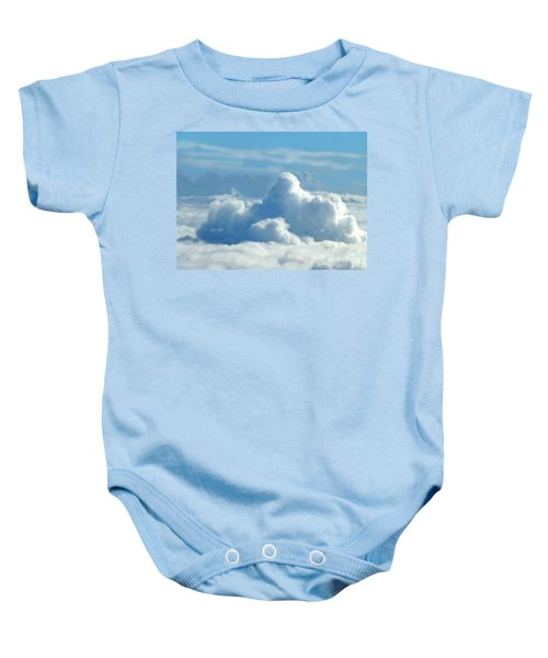 Baby Onesie featuring the digital art Clouds And Sky M2 by Francesca Mackenney