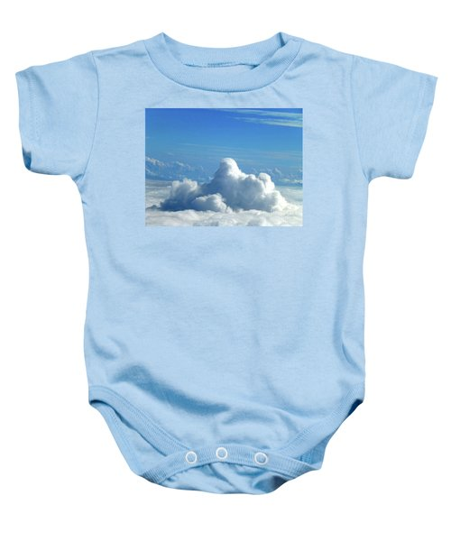Baby Onesie featuring the photograph Clouds And Sky M3 by Francesca Mackenney