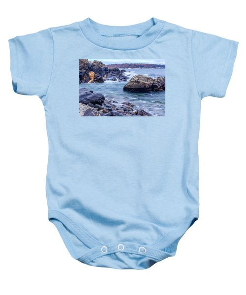 Coast Of Maine In Autumn Baby Onesie