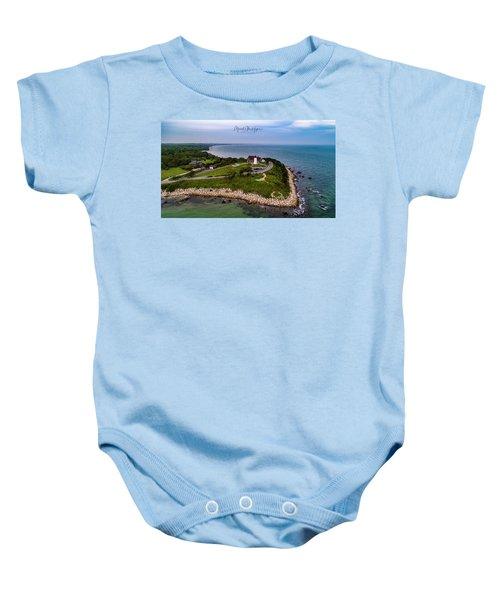 Coastal Nobska Point Lighthouse Baby Onesie