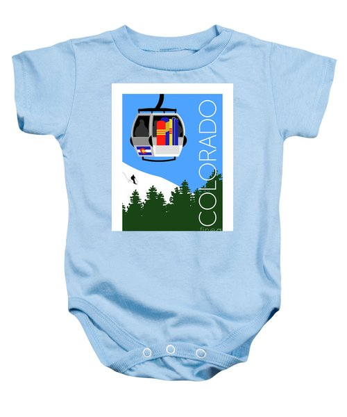 Colorado Ski Country Blue Baby Onesie