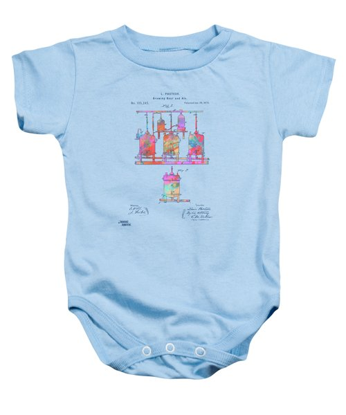 Colorful 1873 Brewing Beer And Ale Patent Artwork Baby Onesie