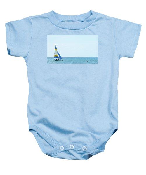 Colorful Catamaran 3 Delray Beach Florida Baby Onesie
