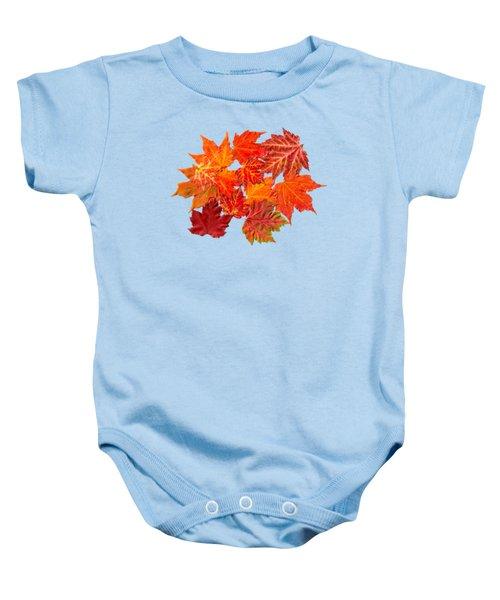 Colorful Maple Leaves Baby Onesie