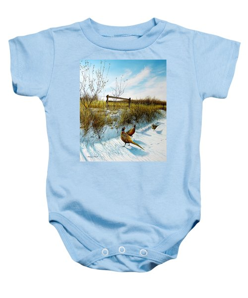 Colors Of Winter - Pheasants Baby Onesie