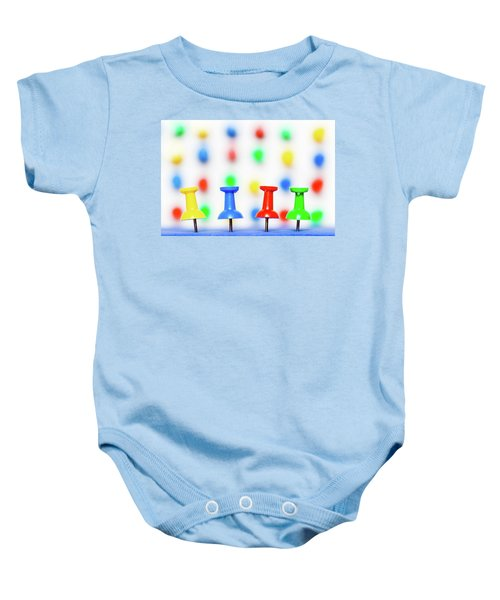 Colourful Pins. Baby Onesie