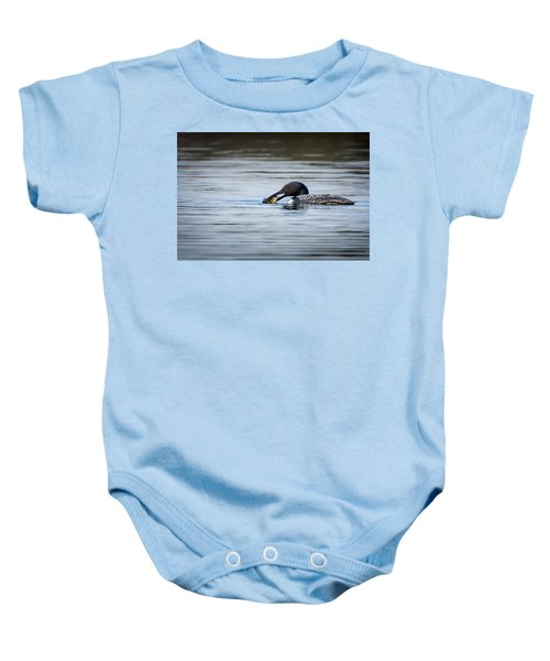 Common Loon Baby Onesie by Bill Wakeley