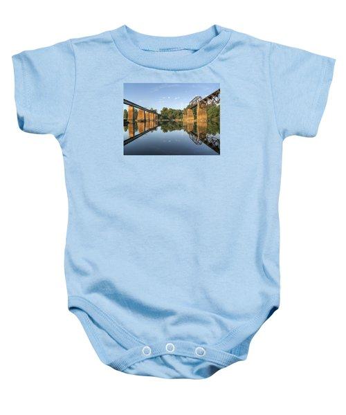 Congaree River Rr Trestles - 1 Baby Onesie
