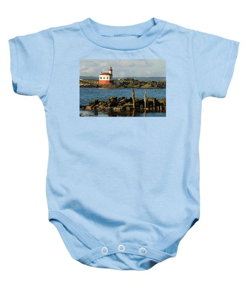 Coquille River Lighthouse Bandon Oregon Baby Onesie