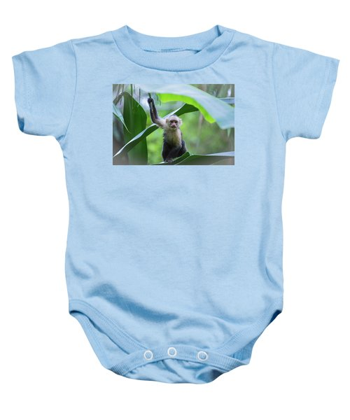 Costa Rica Monkeys 1 Baby Onesie