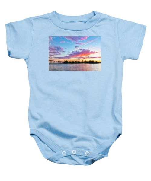 Cotton Candy Sunset Baby Onesie