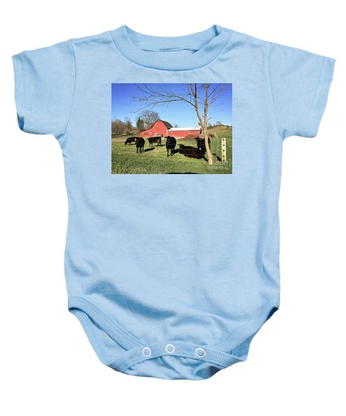 Country Cows Baby Onesie