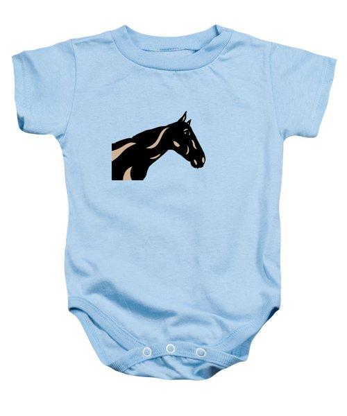 Crimson - Pop Art Horse - Black, Hazelnut, Island Paradise Blue Baby Onesie