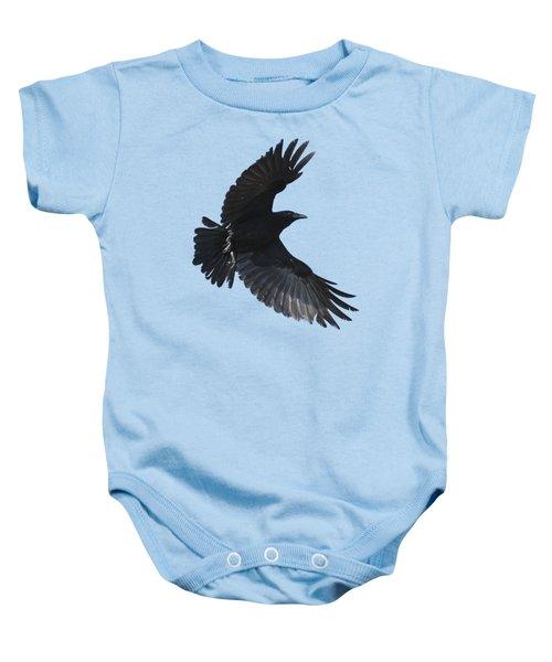 Crow In Flight Baby Onesie