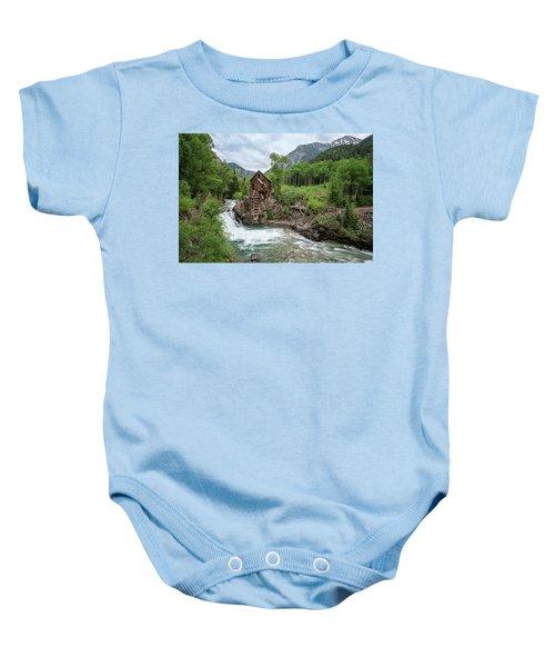 Crystal Mill Colorado 4 Baby Onesie