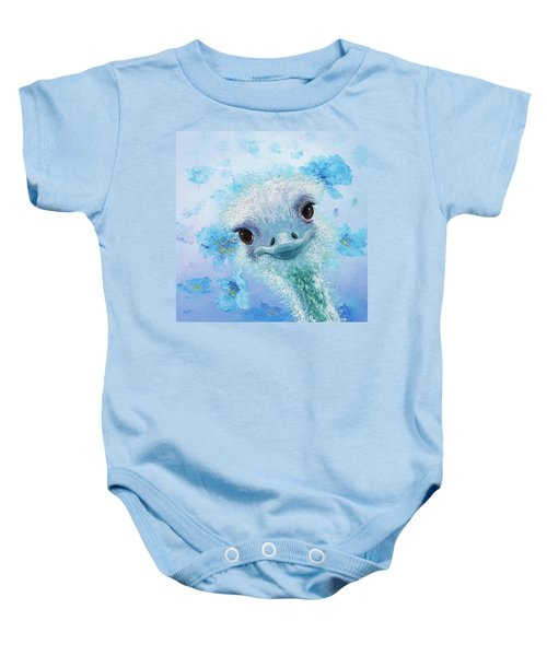 Curious Ostrich Baby Onesie by Jan Matson
