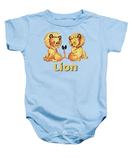 Cute Baby Lion Pajama Pattern Adorable Baby Animals Baby Onesie