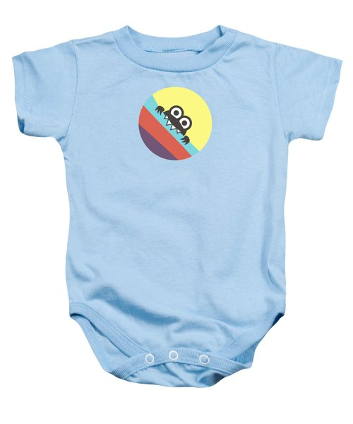 Cute Bug Bites Candy Colored Stripes Baby Onesie by Boriana Giormova